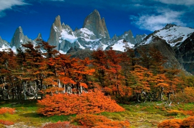 Mt Fitzroy in Argentina. Nature and wilderness are marvelous. Managed nature in cities can be spectacular.