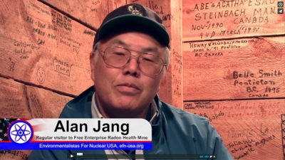 Alan Jang on Personal Health Benefits of Radon Health Mines - Video interview with Bruno Comby France USA