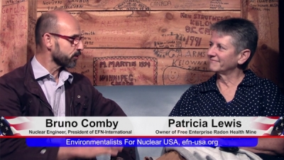 History of the Free Enterprise Radon Mine. Video interview with Bruno Comby and Patricia Lewis: France USofA