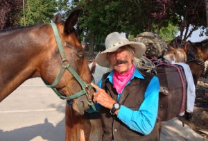 An eighty year old cowboy is saying here that some horses are smarter than some people!  Photo: John Shanahan, Fort Collins, Colorado